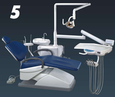 top dental chair, mounting dental chair
